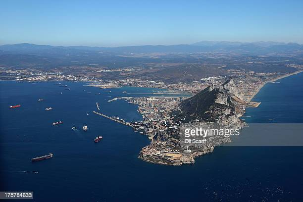 The peninsular of Gibraltar on August 8 2013 in Gibraltar David Cameron has spoken with his Spanish counterpart Mariano Rajoy and Mr Rajoy has...
