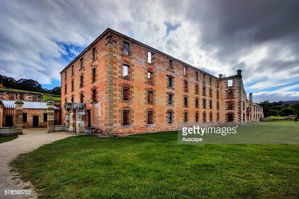 The Penitentiary at Port Arthur built 18421845 originally a flour mill and granary ruined by fire in 1897 Port Arthur Historic Site Tasmania Australia
