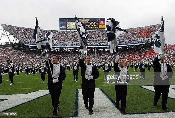 The Penn State Blue Band during a game between the Oregon State Beavers and the Penn State Nittany Lions at Beaver Stadium on September 6 2008 in...