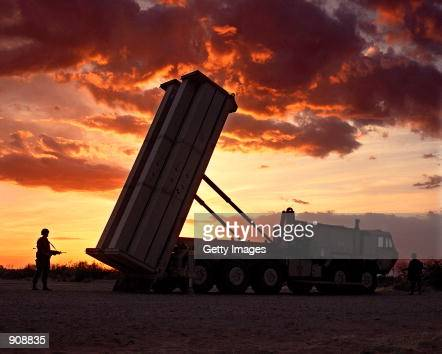 The Pentagon again postponed a key test of its troubled 'THAAD'''' antimissile defense rocket seen this file photo due to a commercial power failure...