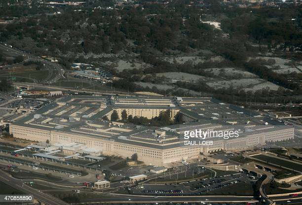 The Pentagon in Arlington Virginia outside Washington DC is seen in this aerial photograph April 23 2015 AFP PHOTO / SAUL LOEB / AFP PHOTO / SAUL LOEB