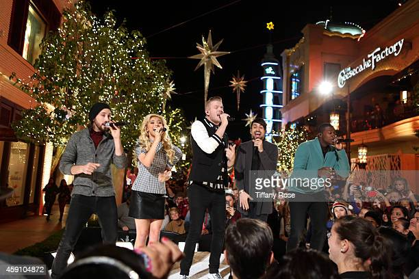 The Pentatonix Avi Kaplan Kristie Maldonado Scott Hoying Mitch Grassi and Kevin Olusola perform at The Grove's 12th Annual Christmas Tree Lighting...