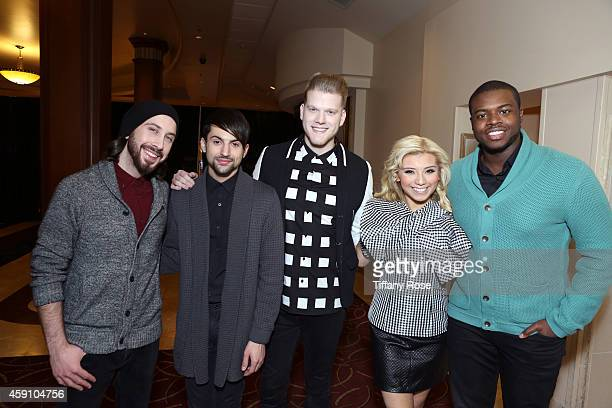 The Pentatonix Avi Kaplan Mitch Grassi Scott Hoying Kristie Maldonado and Kevin Olusola attend The Grove's 12th Annual Christmas Tree Lighting...