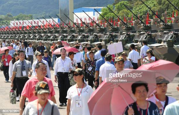 The People's Liberation Army base in Hong Kong is opened to the media and invited guests on June 30 to mark the 20th anniversary of Hong Kong's...