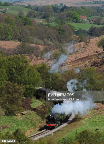 The Peppercorn class A1 Pacific 60163 Tornado the first new mainline steam locomotive built in Britain for almost 50 years travels along the North...