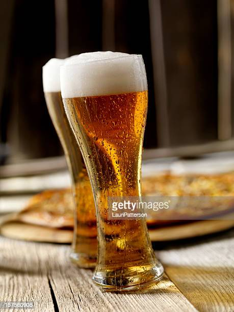 The Perfect Pint of Beer and Pizza