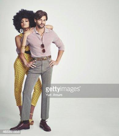 The perfect retro couple