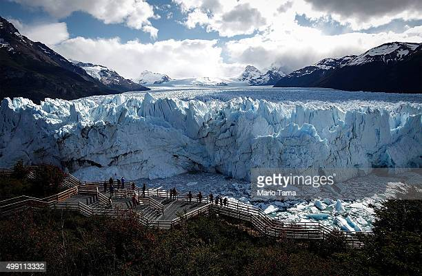 The Perito Moreno glacier stands in Los Glaciares National Park part of the Southern Patagonian Ice Field the third largest ice field in the world on...