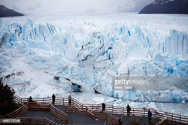 The Perito Moreno glacier stands in Los Glaciares National Park part of the Southern Patagonian Ice Field on November 29 2015 in Santa Cruz Province...
