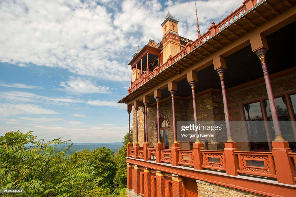 The Persian style mansion built by the painter Frederic Edwin Church at the Olana historic site in the Catskills in New York State USA