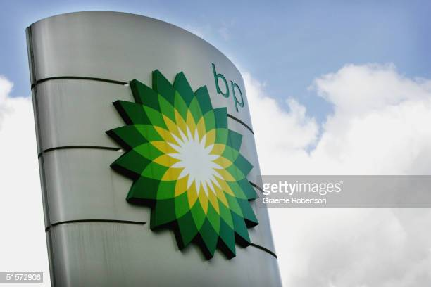 The Petrol station forecourt for BP the world's second largest oil company October 26 2004 in London England The company has reported major profits...