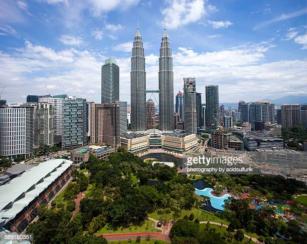 The Petronas Towers and the KLCC Park