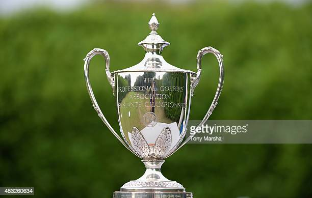 The PGA Assistants' Championship trophy during the Galvin Green PGA Assistants' Championship Day 3 at Coventry Golf Club on August 7 2015 in Coventry...