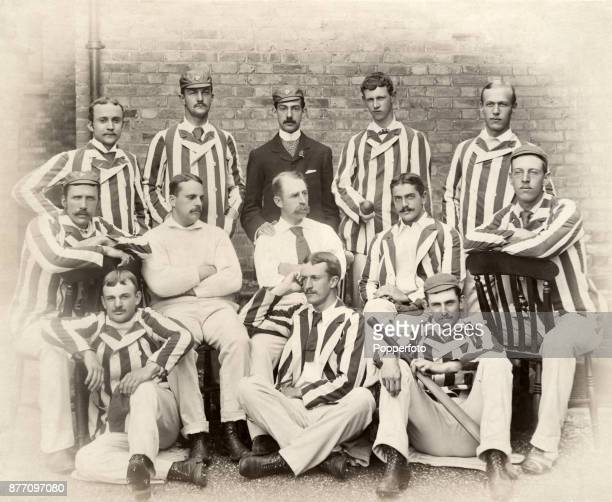 The Philadelphia cricket team during their tour of England which was deemed a great success both socially and educationally circa 1889 The team...