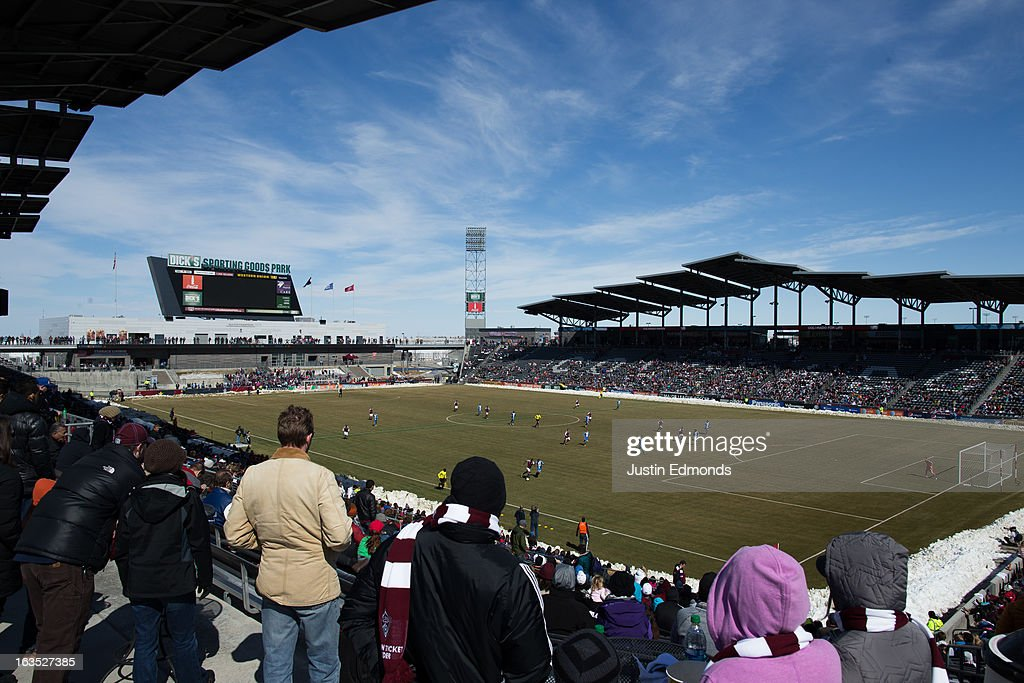 The Philadelphia Union battle the Colorado Rapids at Dick's Sporting Goods Park on March 10, 2013 in Commerce City, Colorado.