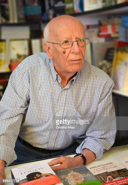 The philosopher and writer Emilio Lledo attends Book Fair 2017 at El Retiro Park on June 3 2017 in Madrid Spain