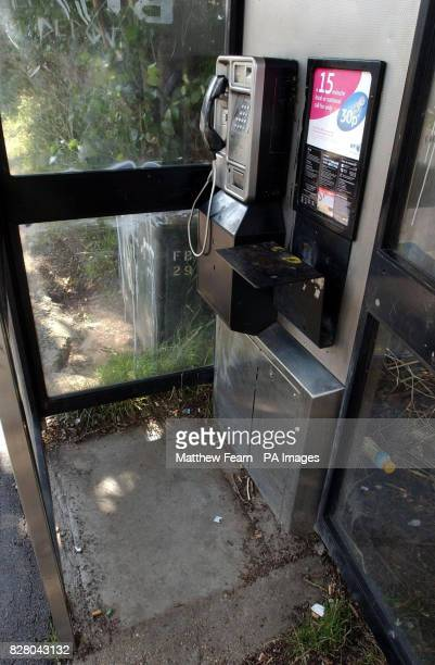 The phone box in Farnborough Way Farnborough Kent after a newborn baby was found abandoned inside the telephone box police said today The girl was...