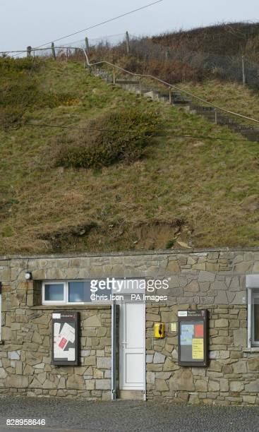The phone link to the Samaritans which has been set up at the bottom of cliffs at a notorious suicide spot The phone is installed in a car park at...