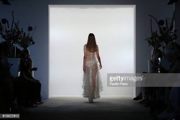 The photo shows models with the Steinrohner collection on the catwalk Steinrohner showcases its latest Spring/Summer 2018 Collections in the...