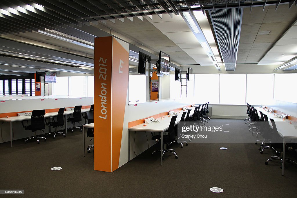 The Photographers' working room is located on the first floor of the Main Press Centre at Olympic Park on July 14 2012 in London England