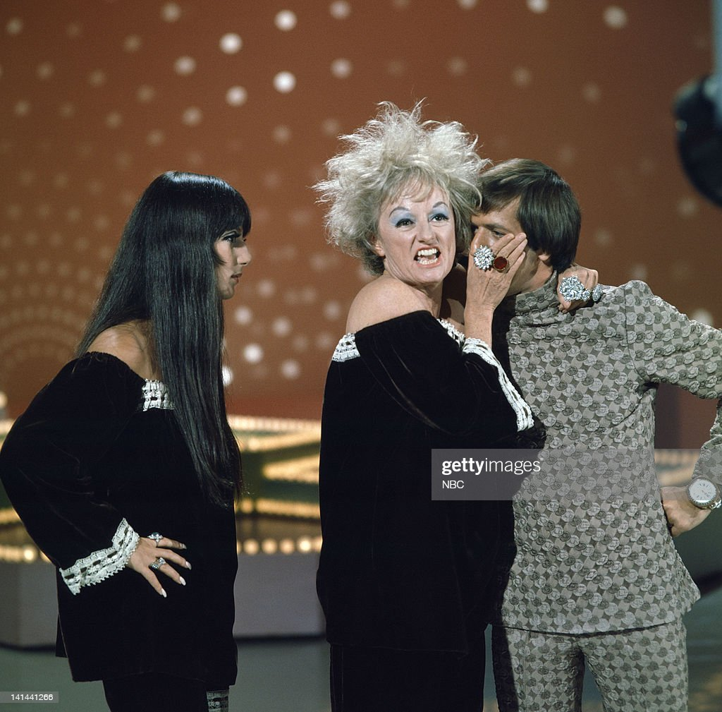 HALL -- 'The Phyllis Diller Happening' Episode 1006 -- Pictured: (l-r) Cher, Phyllis Diller, Sonny Bono --