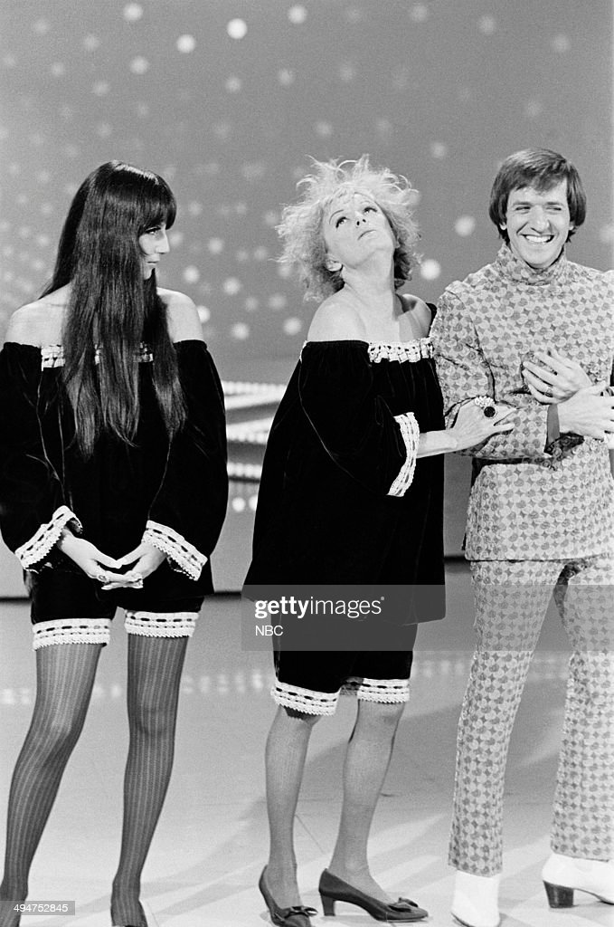 HALL -- 'The Phyllis Diller Happening' Episode 6 -- Pictured: (l-r) Cher, Phyllis Diller, Sonny Bono --