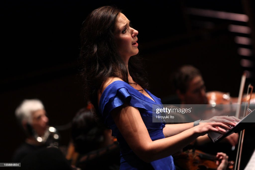 The pianist Emanuel Ax and musicians from the New York Philharmonic performing in 'Song of the Earth' as part of Lincoln Center's White Light Festival at the Rose Theater on Sunday afternoon, November 4, 2012.This image:The mezzo-soprano Tamara Mumford performing Mahler's 'Das Lied von der Erde.'