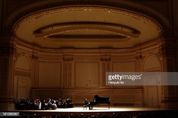 The pianist Lang Lang performing at Carnegie Hall on Saturday night March 15 2008