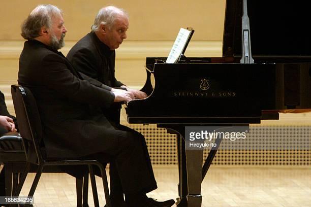 The pianists Daniel Barenboim and Radu Lupu performing at Carnegie Hall on Monday night February 20 2006This imageRadu Lupu and Daniel Barenboim...
