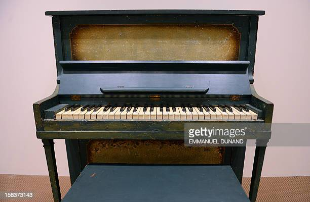 The piano used as the prop for the key flashback scene between Humphrey Bogart and Ingrid Bergman in 'Casablanca' is on display during an auction...