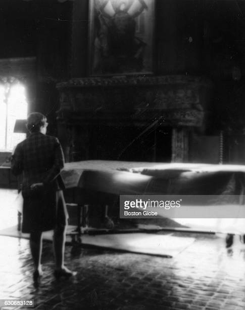 The piano waits to be played in the Tapestry Room at the Isabella Stewart Gardner Museum in Boston on Nov 15 1966