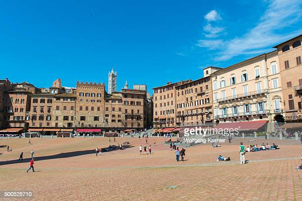 The Piazza del Campo in Siena Tuscany central Italy