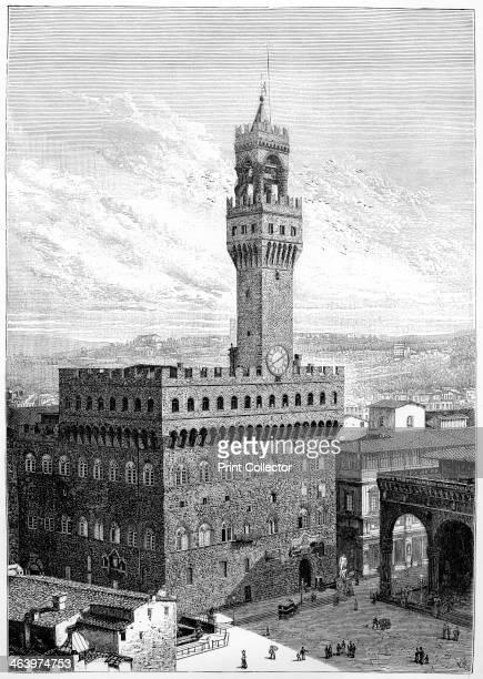 The Piazza della Signoria Palazzo Vecchio Florence Italy 1882 The Piazza della Signoria is an Lshaped square in front of the Palazzo Vecchio in...