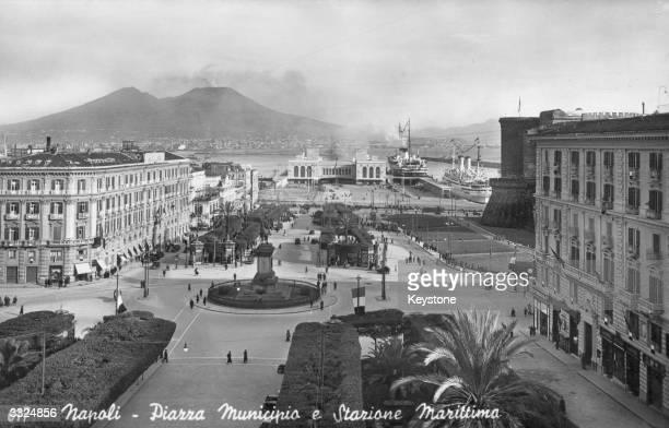 The Piazza Municipio in Naples Italy