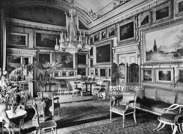 The Piccadilly Room Apsley House 1908 Apsley House known as 'No 1 London' was the home of the Duke of Wellington A photograph from The Private...