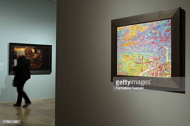 The picture ' Bathhouse' in the Emil Nolde Exhibitionon at Staedel Museum on March 4 2014 in Frankfurt am Main Germany