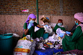 The picture showing one of the centre of Chintan An NGO which works with wastepickers on September 29 2014 in New Delhi India