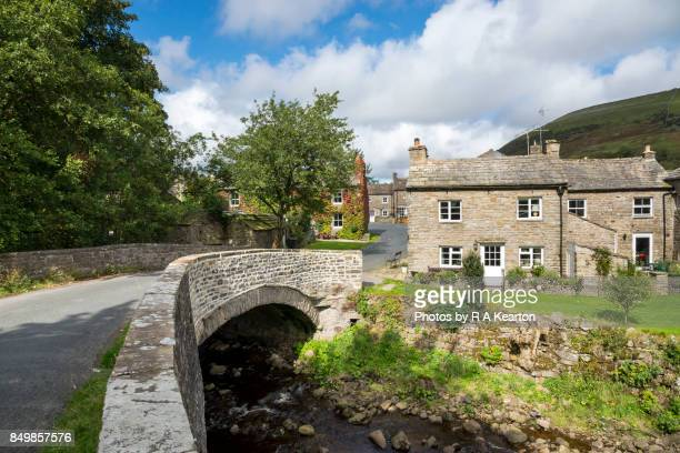 The picturesque village of Thwaite in Upper Swaledale, North Yorkshire, England