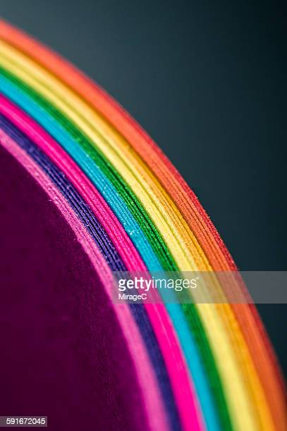 The Pile of Rainbow Colored Paper