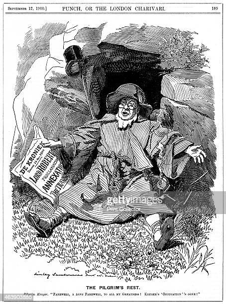 'The Pilgrim's Rest' caricature af Paul Kruger South African politician 1900 Known as Oom Paul Stephanus Johannes Paulus Kruger was President of the...