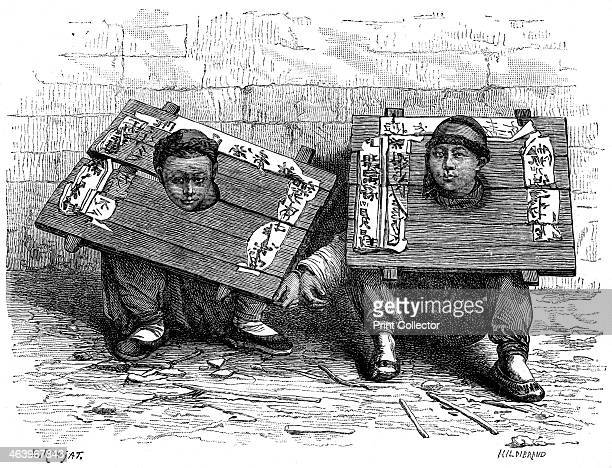The pillory in Japan before the revolution 1895 From The Universal Geography with Illustrations and Maps division XIV written by Elisee Reclus and...