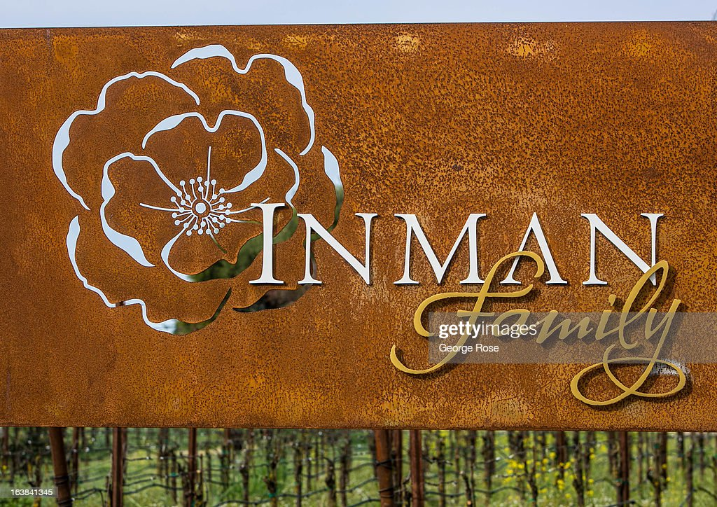 The Piner Road entrance to Inman Family Wines is viewed on March 15, 2013, near Santa Rosa, California. Sonoma County, along with Napa Valley, has grown to become one of California's most prestigious wine grape growing regions and known for its cool climate pinot noir and chardonnay.