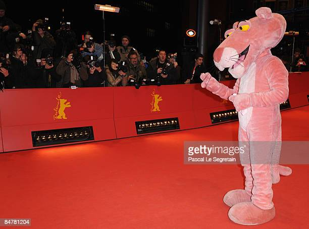 The Pink Panther attends the premiere for 'Pink Panther 2' as part of the 59th Berlin Film Festival at the Berlinale Palast on February 13 2009 in...