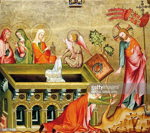 The pious women and Noli me tangere the rear panel of the Altar of Verdun by the Master of the Rear of the Verdun Altar tempera on wood 108x121 cm...