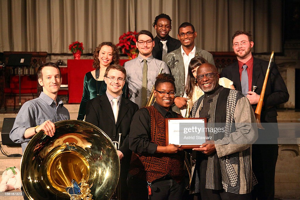 The Pitch Blak Bass Band and Bob Stewart attend the Duke Ellington Center For The Arts 'Ring Dem Bells!' Holiday Party at Landmark on the Park on December 10, 2012 in New York City.
