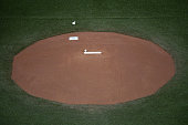 The Pitcher's Mound before the start of the game The Toronto Blue Jays and Texas Rangers play game five of the MLB American League Division Series at...