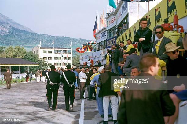 The pits at the Targa Florio Sicily 1963