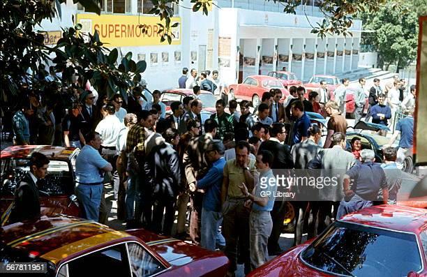 The pits at the Targa Florio Sicily 1966