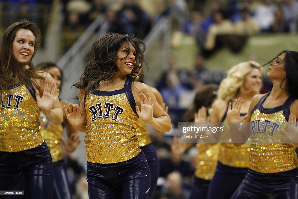 The Pittsburgh Panthers dance team performs during a time out against the Duke Blue Devils at Petersen Events Center on January 27, 2014 in Pittsburgh, Pennsylvania.