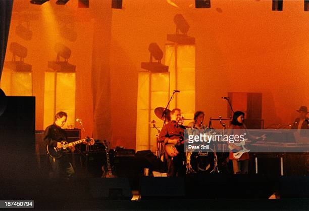 The Pixies perform on stage at the Crystal Palace Bowl on June 8th 1991 in London England